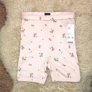 Free People Shorts - Spring Ditsy Floral Bloomer Bike Tap Shorts Pink M